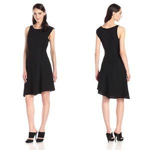 Halston Heritage Asymmetrical Crepe Dress